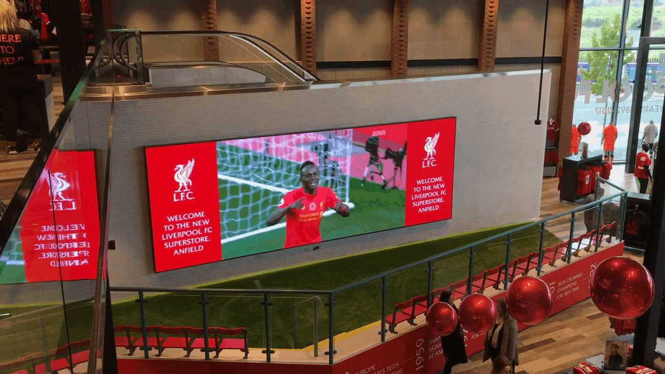 Large LED Video wall installed at Liverpool Football Club