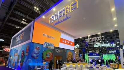 Indoor led screen signs installed for iSoftBet